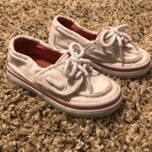 White toddler sperry's